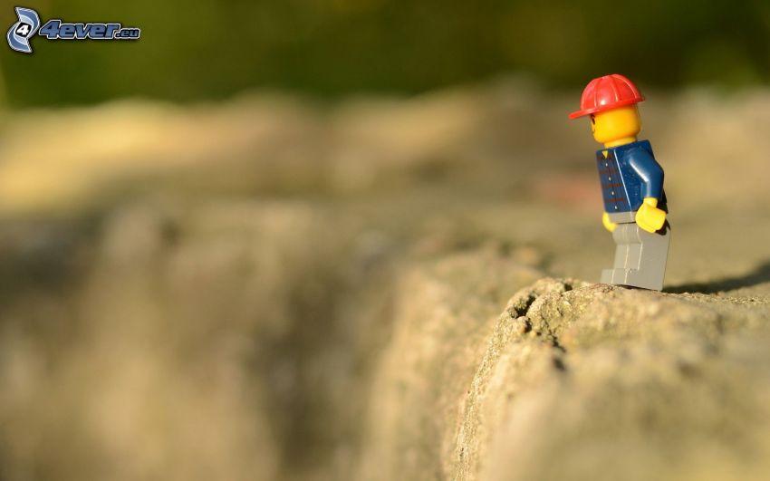 muñeco, Lego, arrecife