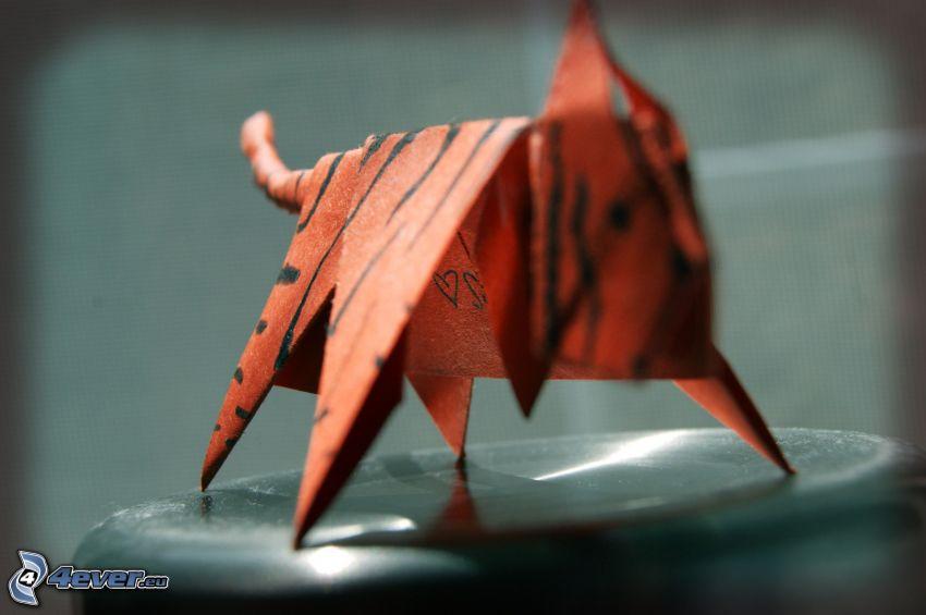 origami, tigre