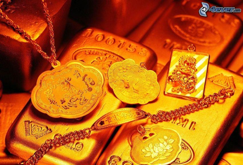 oro, barras de oro