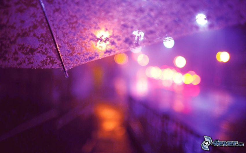 paraguas, luces