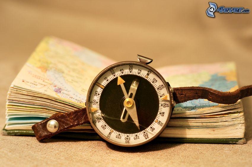 reloj histórico, mapa