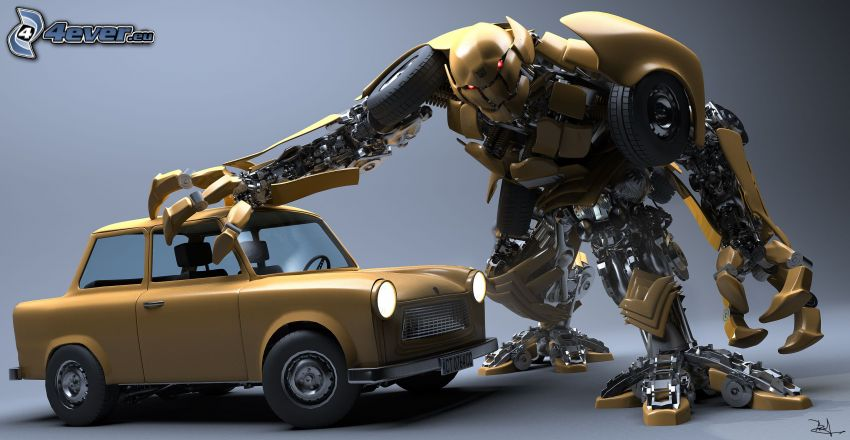 robot, Trabant, Transformers