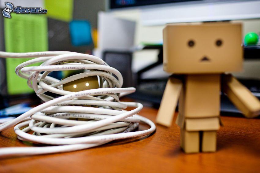 robot de papel, cable