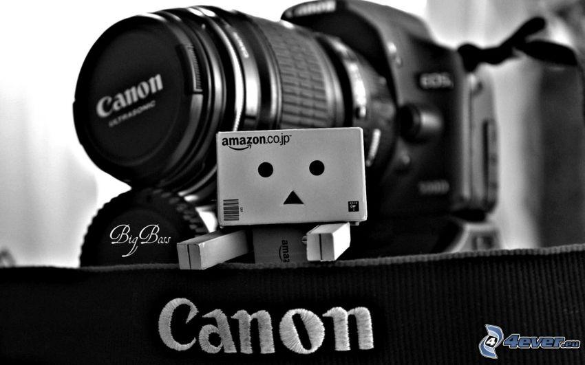 robot de papel, cámara, Canon