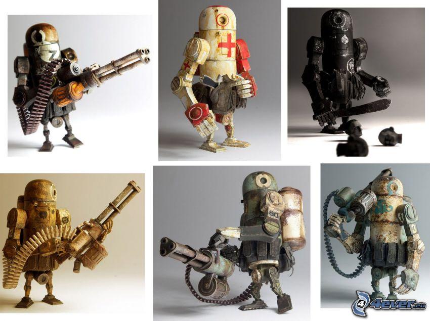 Robots, caracteres