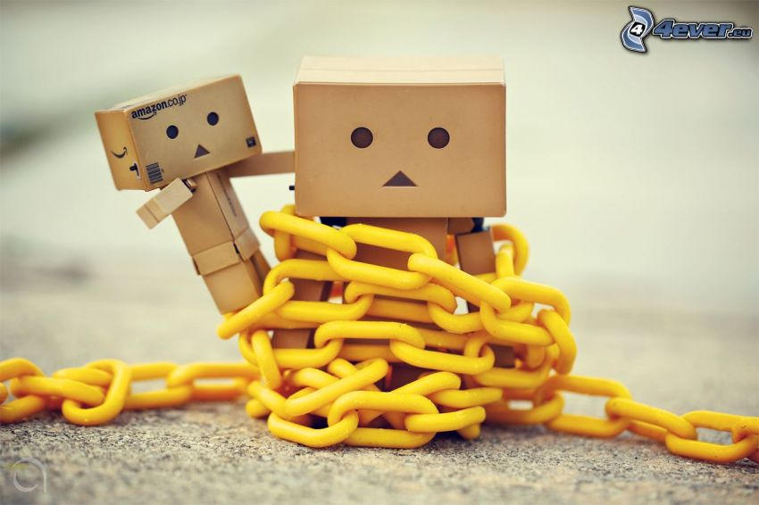 robots de papel, cadena