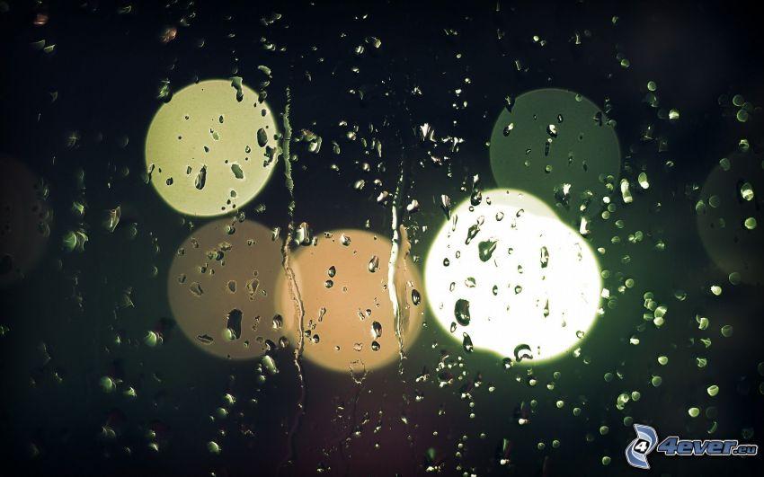 rocío en vidrio, círculos