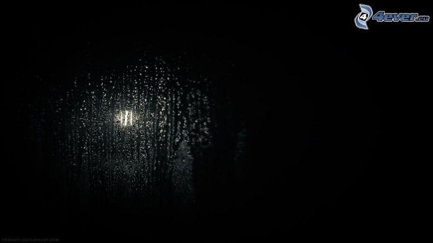 rocío en vidrio, luz