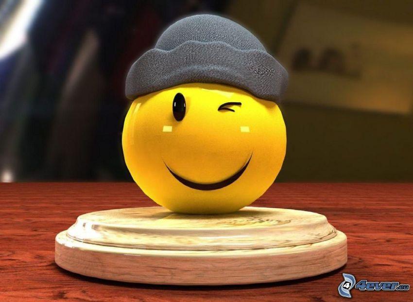 Smiley, gorro
