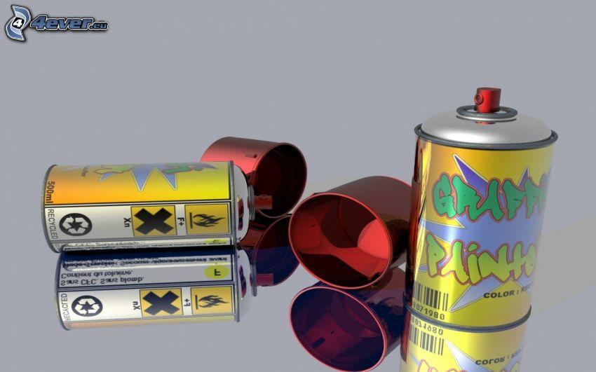 spray, colores