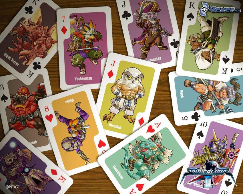 tarjetas, caracteres