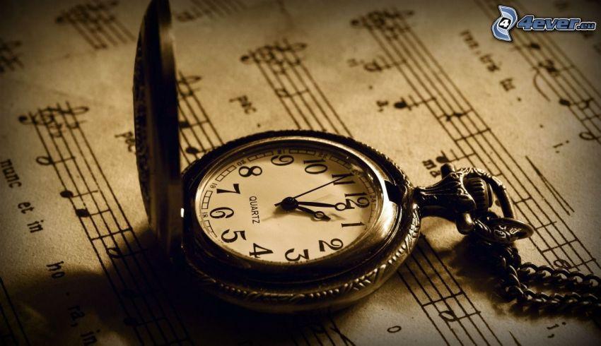 tiempo, notas de música