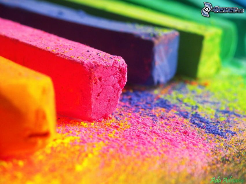 tizas, colores