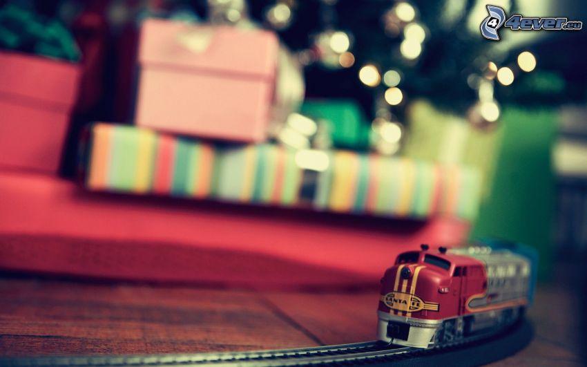 tren, regalos