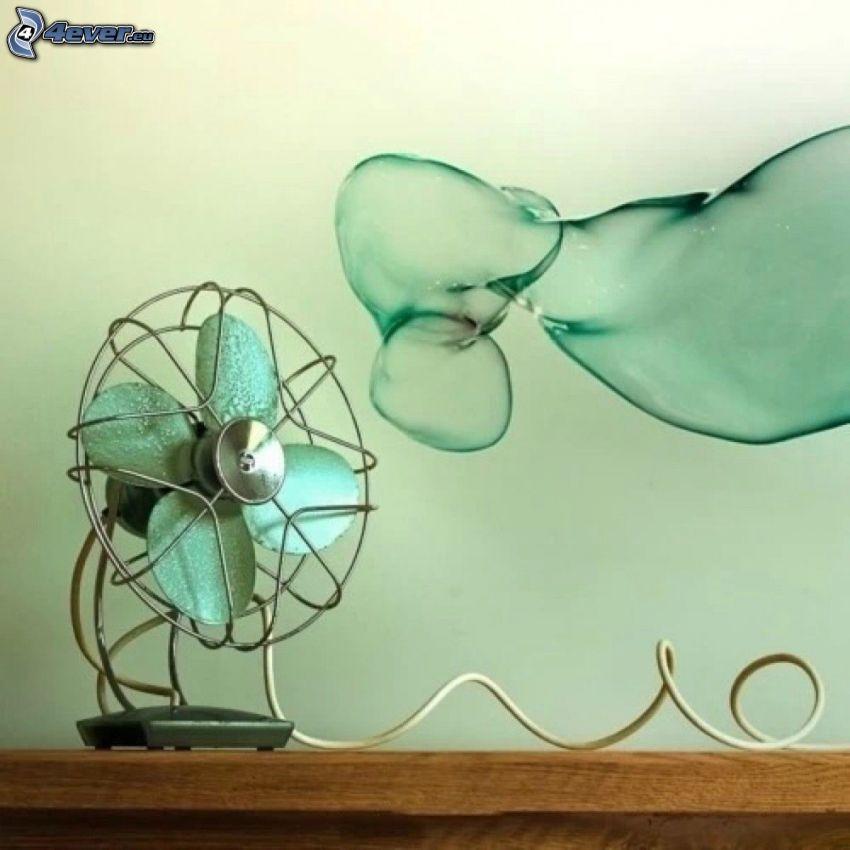 ventilador, burbuja
