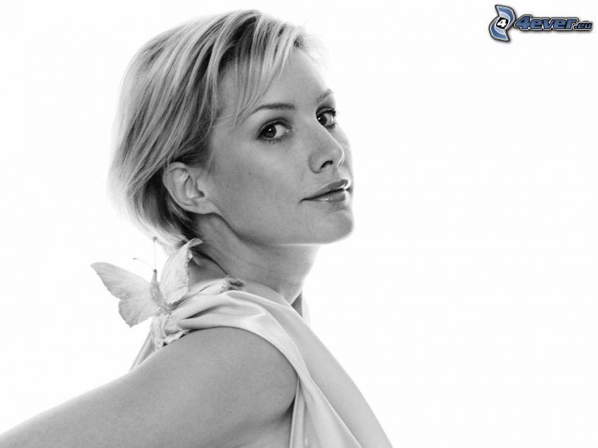 Alice Evans, Foto en blanco y negro