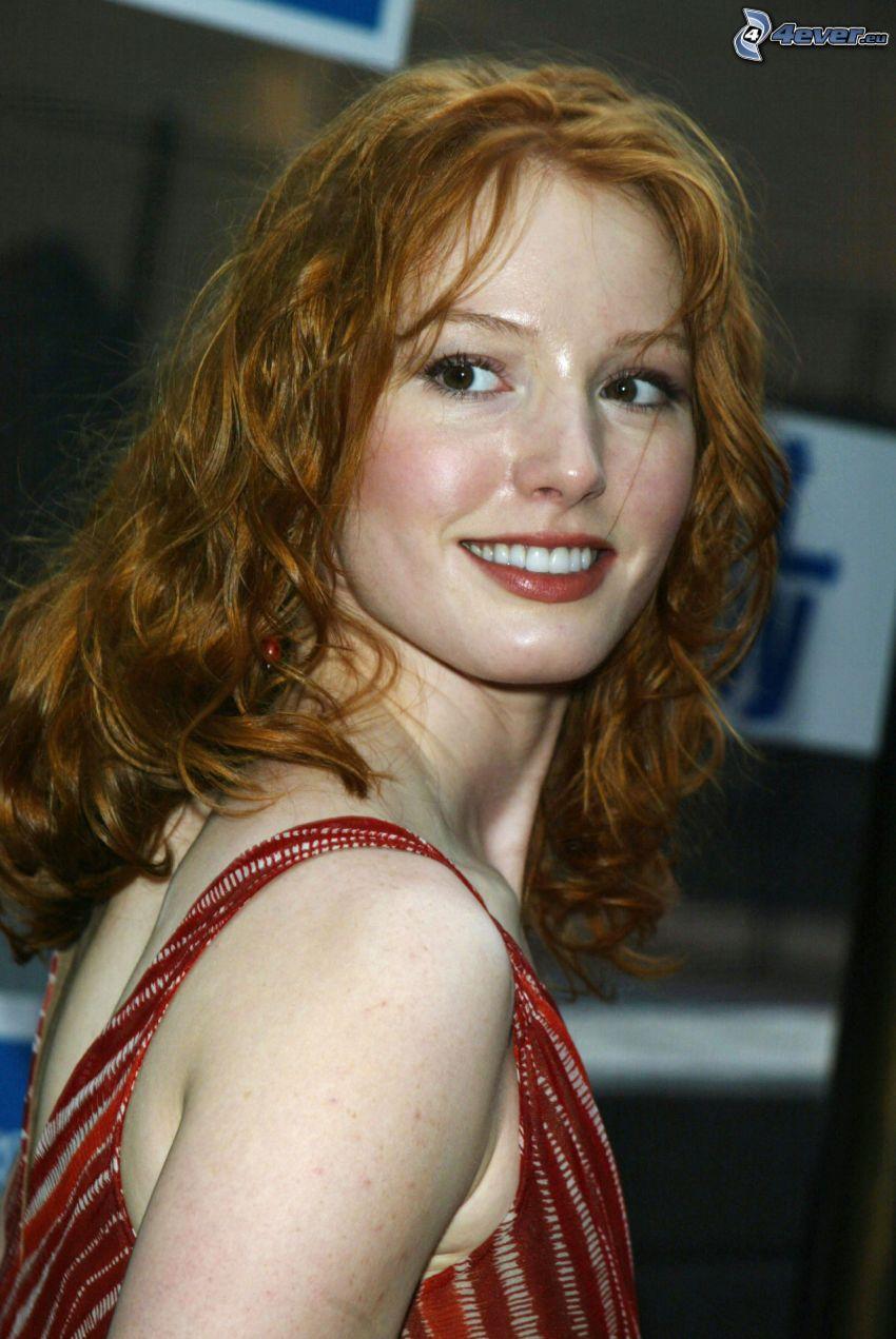 Alicia Witt, mirada, sonrisa