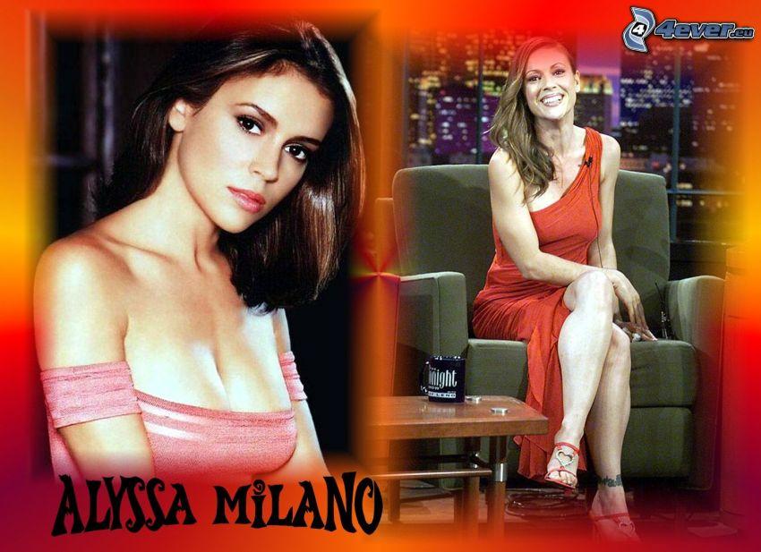 Alyssa Milano, actriz, Phoebe, brujas, Charmed, mujer de pelo castaño
