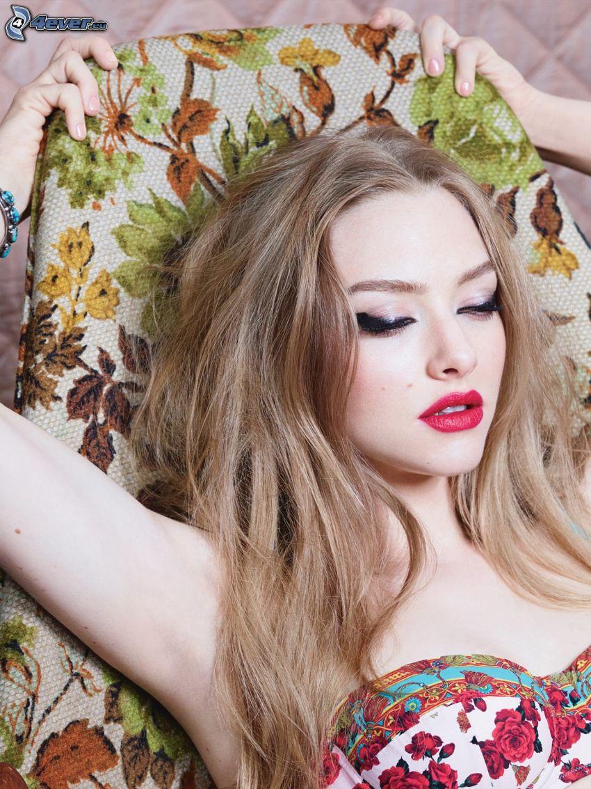 Amanda Seyfried, labios rojos