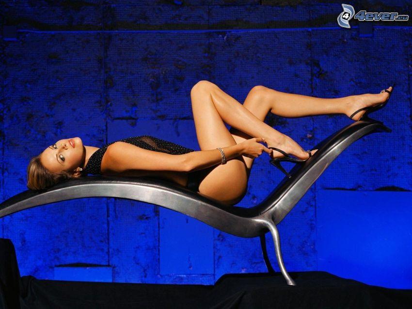 Charlize Theron, tumbona