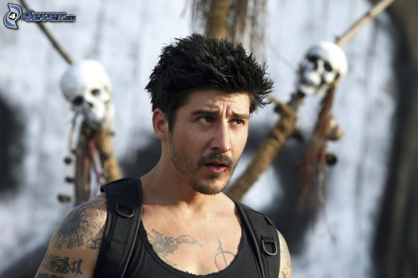 David Belle, mirada, cráneos