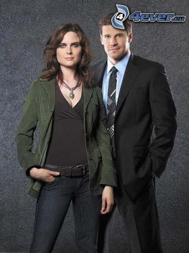 Emily Deschanel, Temperance Brennan, David Boreanaz, Seeley Booth
