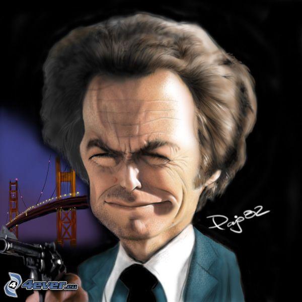 Harry el sucio, caricatura, Golden Gate