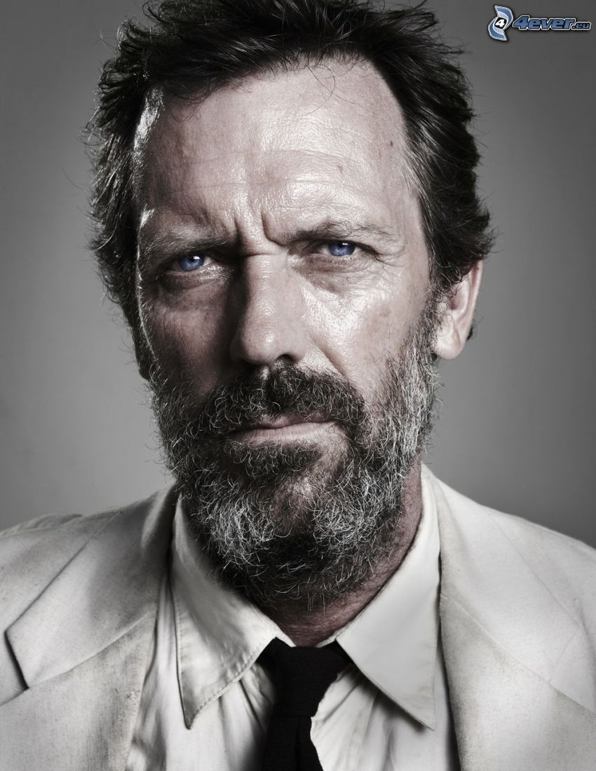Hugh Laurie, bigote
