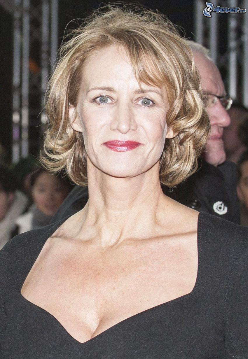 Janet McTeer, labios rojos