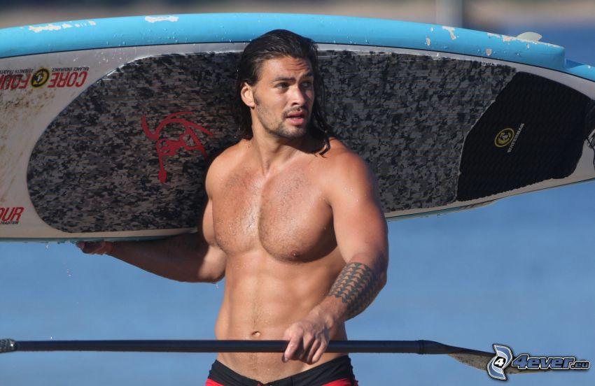 Jason Momoa, surf