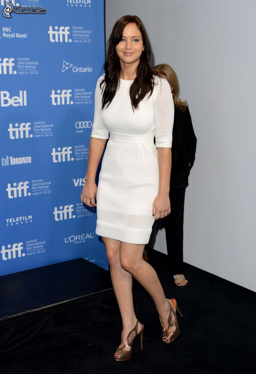 Jennifer Lawrence, vestido blanco