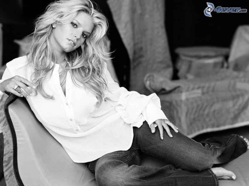 Jessica Simpson, Foto en blanco y negro