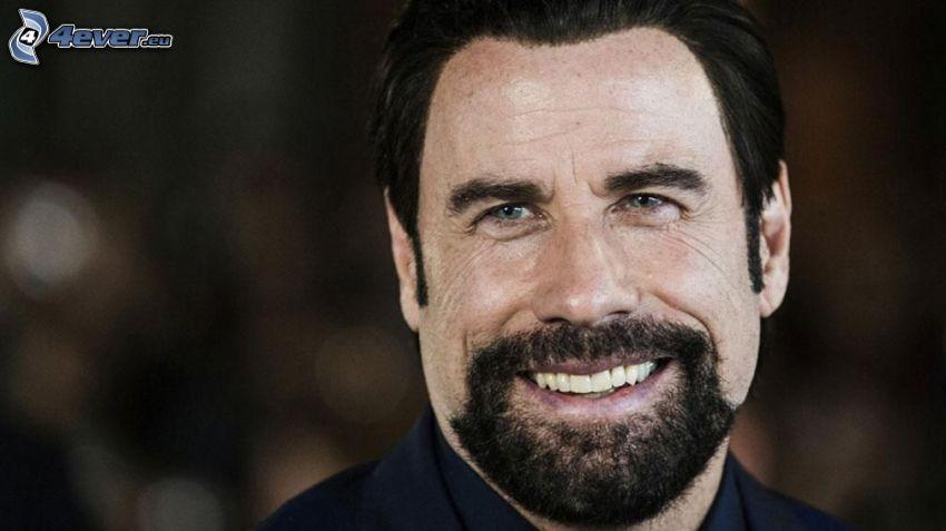 John Travolta, bigote, sonrisa