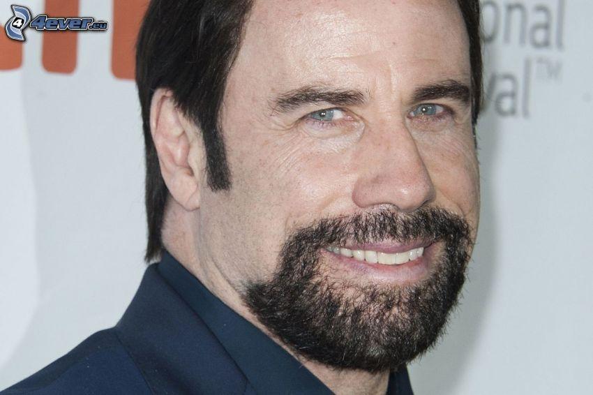 John Travolta, sonrisa, bigote