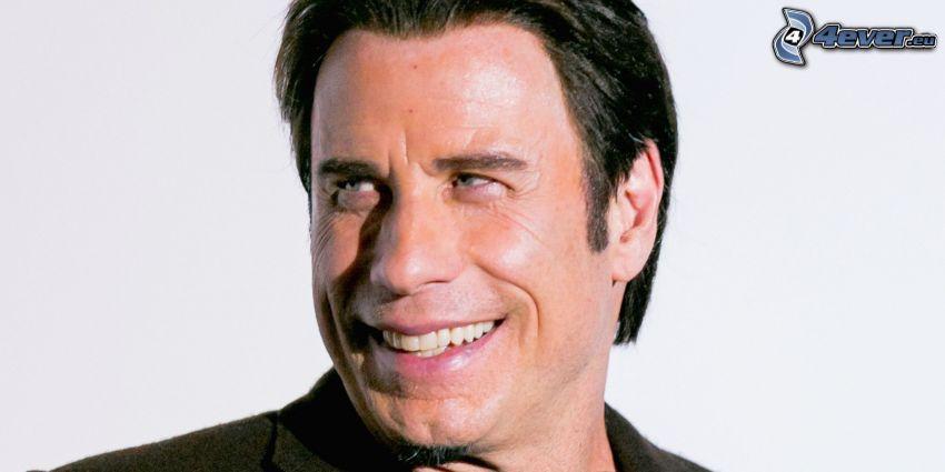 John Travolta, sonrisa, mirada