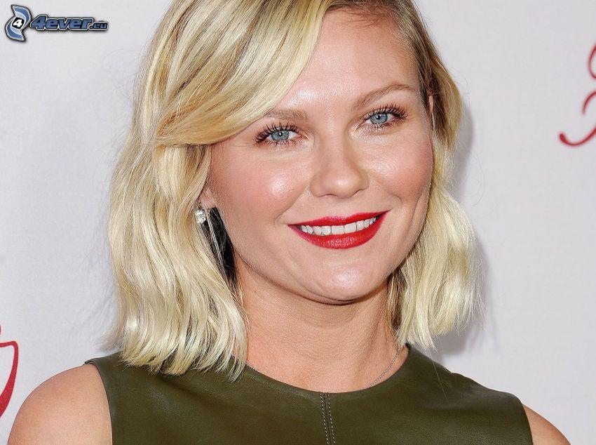 Kirsten Dunst, sonrisa, labios rojos