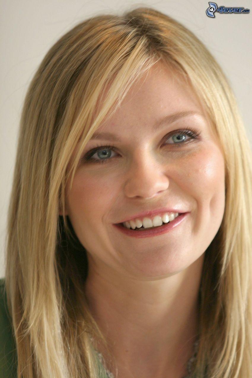 Kirsten Dunst, sonrisa, mirada