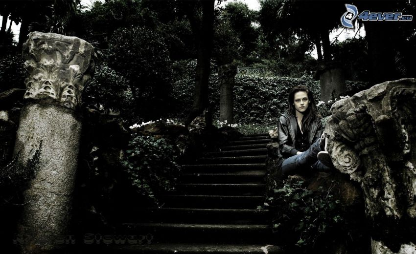 Kristen Stewart, escalera