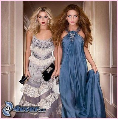 Mary-Kate y Ashley Olsen, gemelos, actrices