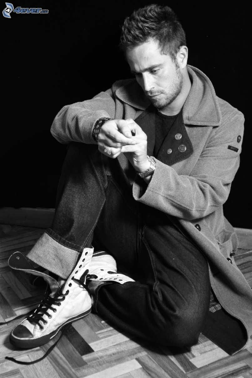 Michel Brown, Foto en blanco y negro