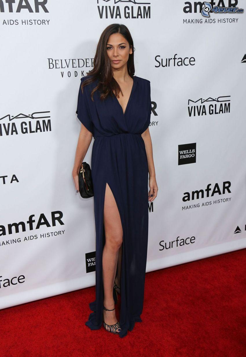 Moran Atias, vestido azul
