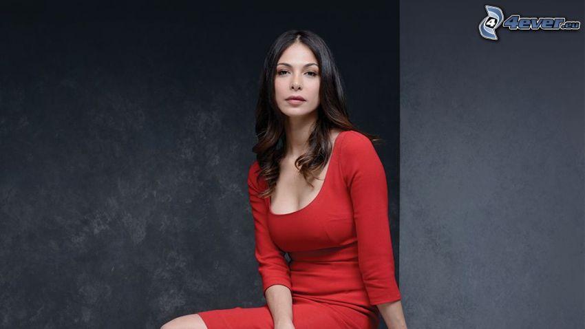 Moran Atias, vestido rojo