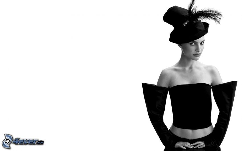 Natalie Portman, chica con sombrero