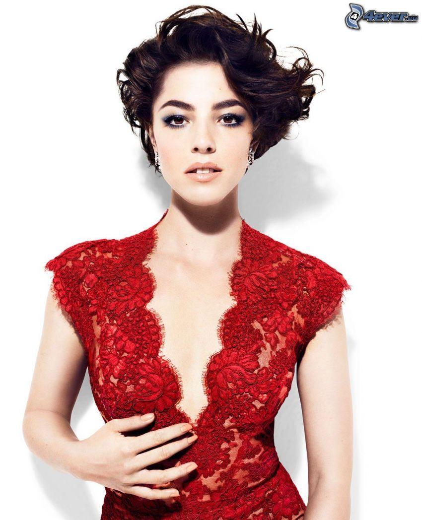 Olivia Thirlby, vestido rojo