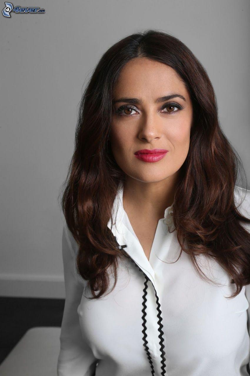 Salma Hayek, labios rojos