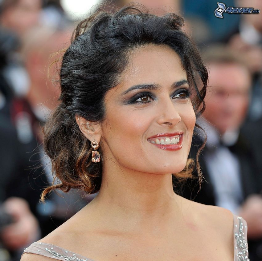 Salma Hayek, sonrisa, mirada
