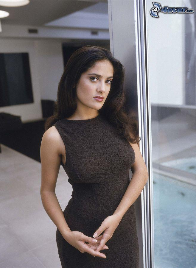 Salma Hayek, vestido negro