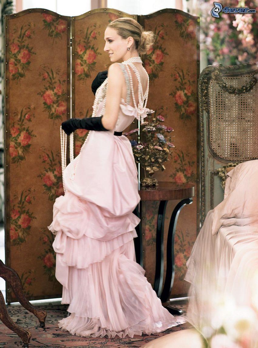 Sarah Jessica Parker, vestido de color rosa
