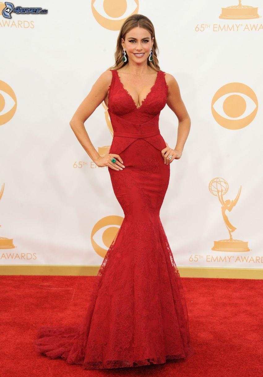 Sofia Vergara, vestido rojo