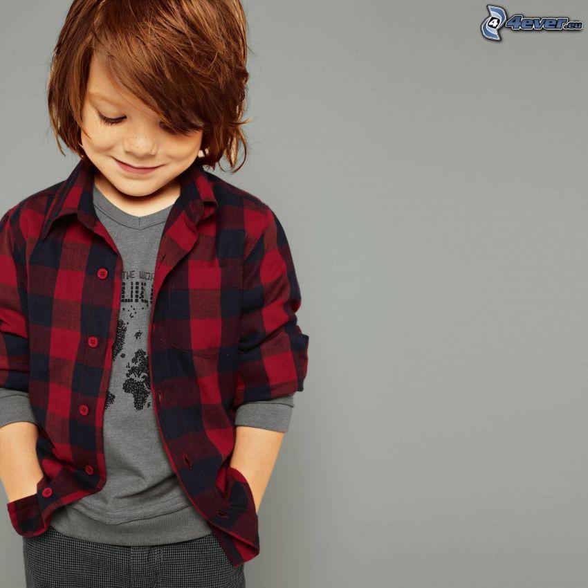 niño pequeño, camisa